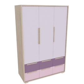 Bekka 3 Door and 6 Drawer Wardrobe