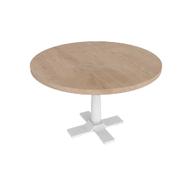 Pinner Round Dining Table, Flint White