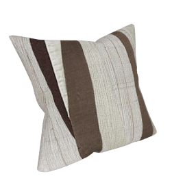 Ridges Cushion, Duck Egg / Brown