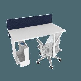 Ergonomic Starter Bundle, White Frame, Heathered Navy Screen