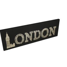 London Canvas Printing with Foil - 120x4.3x40 cms