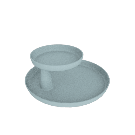 Rotary Tray, Ice Grey