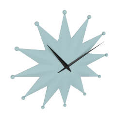 Star Retro Wall Clock