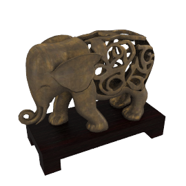 Ceylon Elephant Sculpture