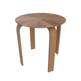 Tyler End Table with Round Top