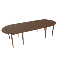 Gala Extension Table - Two Leaves, Walnut