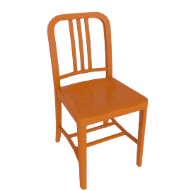 111 Navy Chair, Persimmon