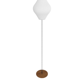 Nelson Pear Floor Lamp Medium, Walnut Base