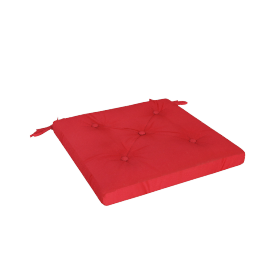 Mabel Chair Pad, Red