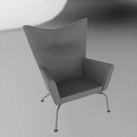 Wing Chair - Divina Melange - Light.Grey