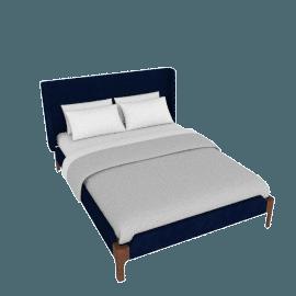Roscoe King size bed, Royal Blue Velvet