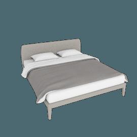 Vella King Bed, Warm Grey