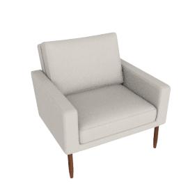 Raleigh Armchair - Slubby Weave, Ivory