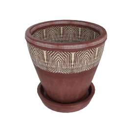 Mirage Planter with Saucer 27 cms