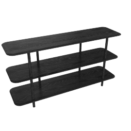 Aero Low Shelving, Black