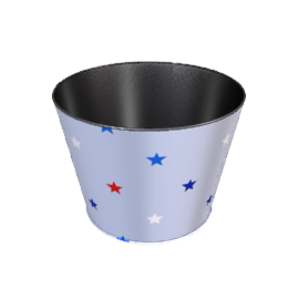Blue Stars Wastepaper Bin