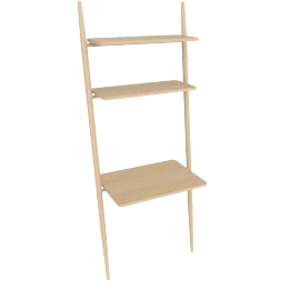 Folk Ladder 32''Desk Shelving, Natural Ash