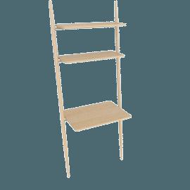 Folk Ladder 32''Desk Shelving, Natural Ash