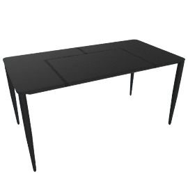 Bottega Leather Desk, Black