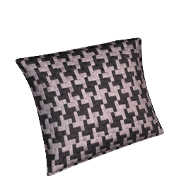 Dogtooth Mosaic Cushion, Grey