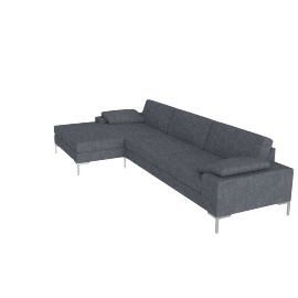 Arena Sectional with Chaise Right, Pebble Weave Pumice