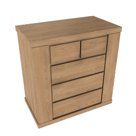 Keep Oak 2 + 3 Drawer Chest, Oak