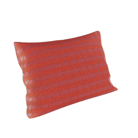 Maharam Pillow in Repeat Classic Houndstooth 18X26, Watermelon