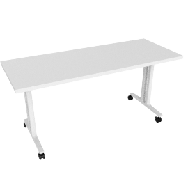 Everywhere Flip-Top Table, White