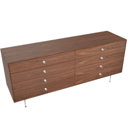 Nelson Thin Edge Double Dresser, Walnut