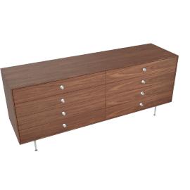 Nelson Thin Edge Double Dresser, Walnut