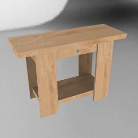 Strata Console Table, Oak