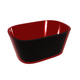 Acrylic Dip Dish, Red