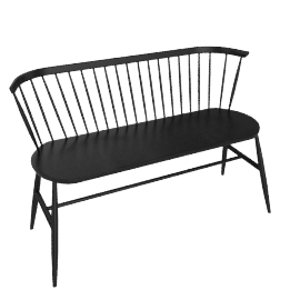 Originals Loveseat Colour Finish, Black