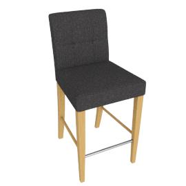 Simone Bar Chair, Dark grey Fabric