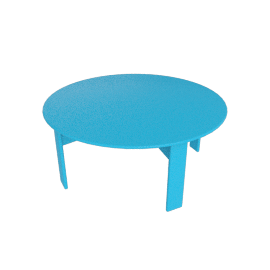 Lollygagger Cocktail Table, Sky Blue