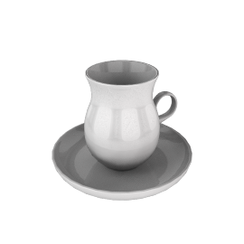 Granit Teacup with Saucer