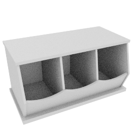 Storage Box Triple, White