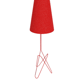 Lola Floor Lamp, Primary Red
