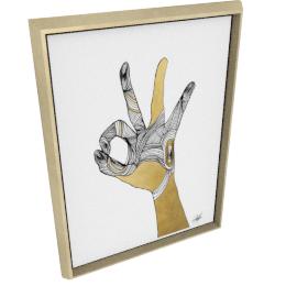 Sign Language II by KelliEllis - 24''x32'', Gold