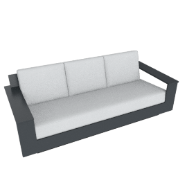 Nisswa Sofa, Charcoal Grey
