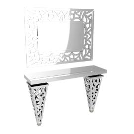 Venetiano Console W/Mirr, Silver