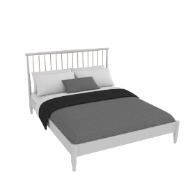 Lomond bedstead French grey, king