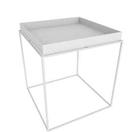 Tray Side Table, White