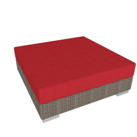 Barlow Tyrie Arizona Ottoman, Paris Red