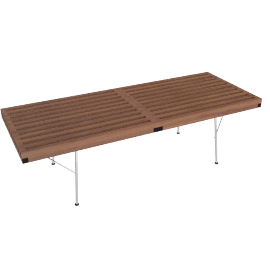 Nelson Platform Bench, 48'' with Metal Legs