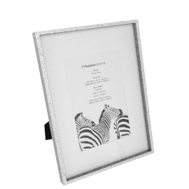 Gloria Photo Frame Matted - 6x8 inches, Silver