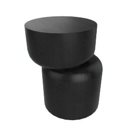 Hew Side Table, Shape D, Black Painted Ash