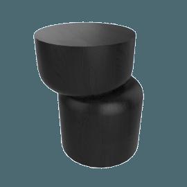 Hew Side Table, Shape D, Black Painted Ash