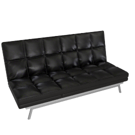 Crest Sofa Bed Shinny Black
