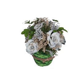Bella Mixed Rose in Italian Textile Planter - 20x20 cms